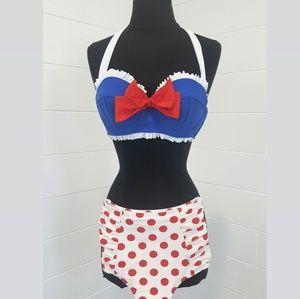 NWT Hot Topic Vintage Sailor Two Piece Bikini